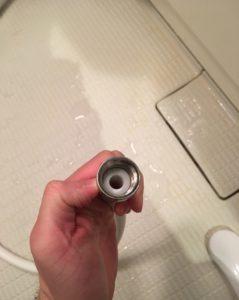 シャワー接続部分